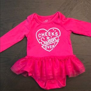 """0-3M Pink Cat & Jack Dress """"Cheeks to Swoon Over"""""""